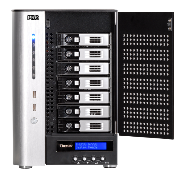 Linux Nas Thecus N7700pro V2 10gbe Ready 7 Bay Power