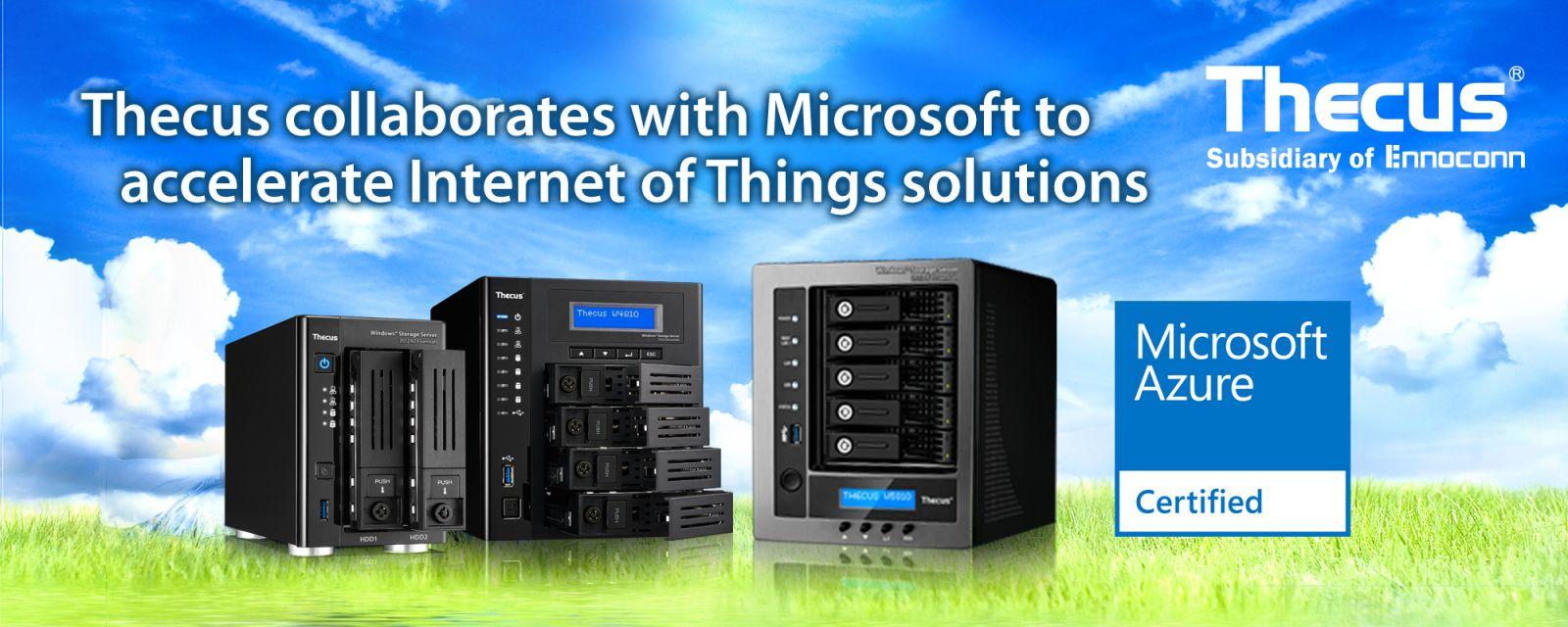Press room thecus wsse nas receive microsoft azure certification 10192016 thecus technology corp today announced it has joined microsoft azure certified for internet of things iot ensuring customers get iot 1betcityfo Image collections