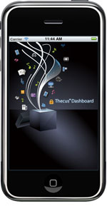 Thecus iPhone Dashboard