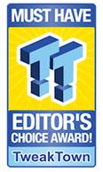 TweakTown editor's choice award